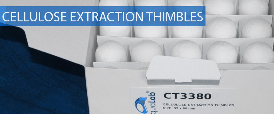 Cellulose extraction thimbles soxhlet