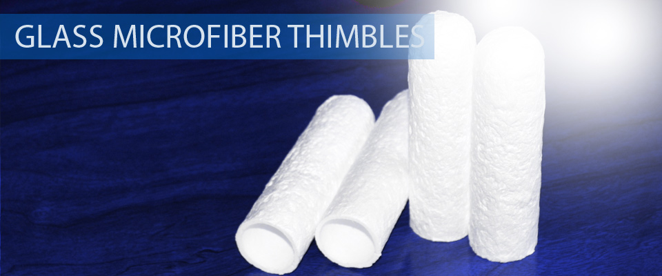 Glass microfiber thimbles glass fiber thimbles extraction soxhlet